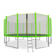 Aga SPORT PRO Trampolína 518 cm Light Green + ochranná sieť + schodíky + vrecko na obuv
