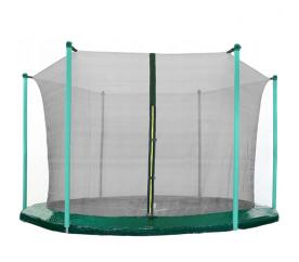 AGA 180 cm (6 ft) 6 rudas trambulin belső védőháló Black