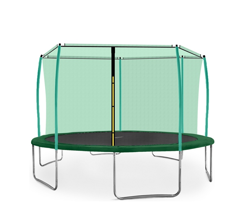 Aga SPORT FIT Trampolína 430 cm Dark Green + vnitřní ochranná síť 2018