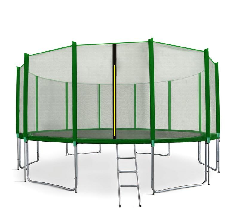 Aga SPORT PRO Trampolína 460 cm Dark Green + ochranná sieť + schodíky + vrecko na obuv