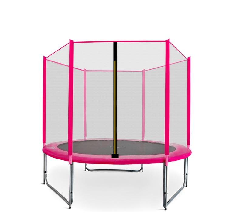 Aga SPORT PRO Trampolína 180 cm Pink + ochranná síť