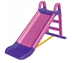 Aga4Kids Skluzavka s madlem 140 cm Růžovo-fialová
