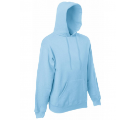Fruit Of The Loom HOODED SWEAT Sky Blue Velikost: M