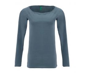 Benetton női Hosszú ujjú póló  szürke nyomtatás nélkül
