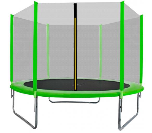 Aga SPORT TOP Trampolína 305 cm Light Green + ochranná sieť + schodíky