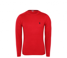 U.S. Polo ASSN. Svetr ROUND-NECK Red