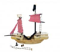Wooden Toys Dřevěná pirátská loď