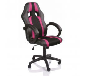 Tresko Kancelářské křeslo Racing Black RS047 - Pink