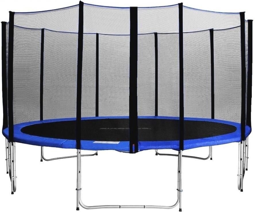aga sport pro trampol na 500 cm 16 ft s ochrannou sie ou blue svet trampol n. Black Bedroom Furniture Sets. Home Design Ideas