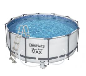 Bestway Steel Pro Frame 3,66 x 1,22 m 56420 + Kartušová filtrácia + schodíky