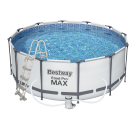 Bestway Basen stelażowy Steel Pro Max 3,66 x 1,22 m 56420 + pompa filtrująca + drabinka