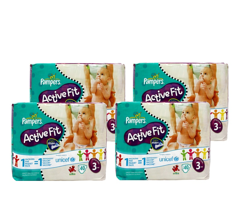 Pampers ACTIVE FIT 3 MIDI (4-9kg)