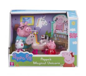 Prasátko Pig sada Jednorožec - 3 figurky a doplňky