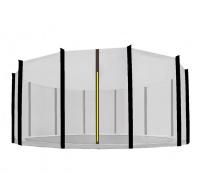 Aga Ochranná síť 430 cm na 12 tyčí Black net / Black