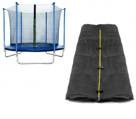 Spartan Siatka do trampoliny 305 cm 10ft wewnętrzna na 6 słupków Black