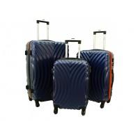 RGL Cestovní kufry HC760 XXL,XL,L Navy Orange