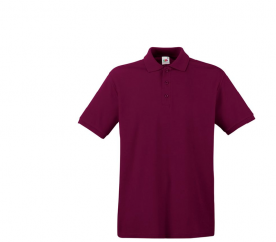 Fruit Of The Loom Tričko PREMIUM POLO Burgundy