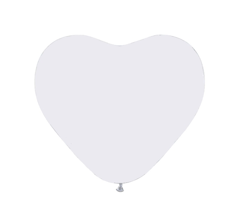 Aga4Kids Balónek SRDCE White 28 cm