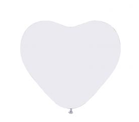 Aga4Kids Latexový balónek SRDCE White 25 cm