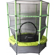 Aga gyerek trambulin 140 cm Light Green + védőháló
