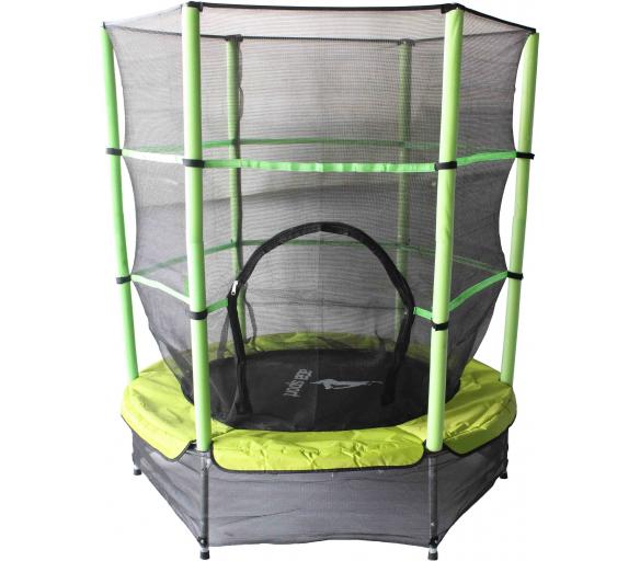 Aga Dětská trampolína 140 cm Light Green + ochranná síť