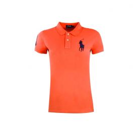 Ralph Lauren Koszulka Polo SKINNY-FIT Big Pony Orange Black