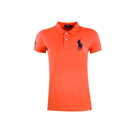 Ralph Lauren SKINNY-FIT Big Pony Orange Black