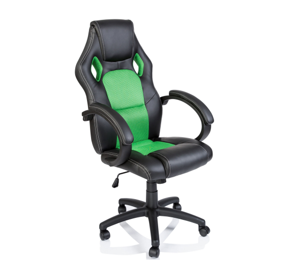 Tresko Kancelářské křeslo Racing Black - Green