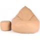 aGa Pufa sofa XXXL + podnóżek (Cappucino)