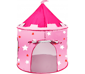 Aga4Kids gyerek játszósátor Castle Grey-Pink