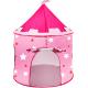 Aga4Kids Detský hrací stan Castle Grey-Pink