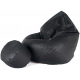 Pufa sofa XXXL aGa + podnóżek (Czarny)
