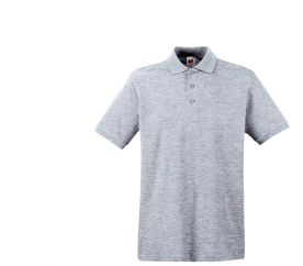 Fruit Of The Loom Tričko PREMIUM POLO Ash