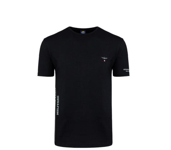 Aeronautica Militare Tričko ROUND-NECK 3-Pack X1394 Black