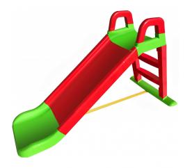Aga4Kids Zjeżdżalnia z uchwytem 140 cm Czerwono-zielona