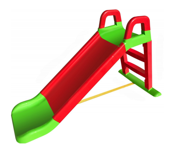 Aga4Kids Skluzavka s madlem 140 cm Červeno-zelená