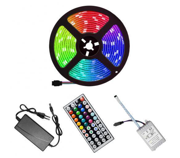 Aga LED pások RGB 5 m + zdroj