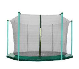 AGA 366 cm (12 ft) 8 rudas trambulin belső védőháló Black