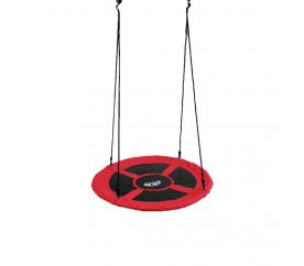 Aga Závesný hojdacia kruh 100 cm Červený