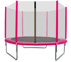 Aga SPORT TOP Trampolina ogrodowa 305 cm 10ft z siatką zewnętrzną - Pink