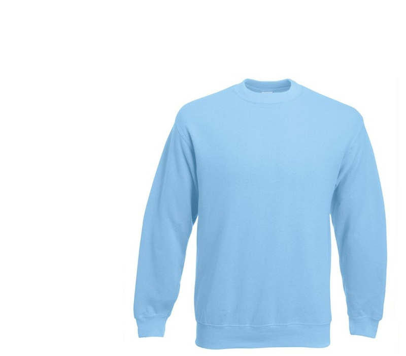 Fruit Of The Loom SET-IN SWEAT Sky Blue