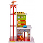 Aga4Kids Hrací dřevěný set FIRE STATION