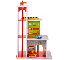 Aga4Kids Hrací dřevěný set Požární stanice