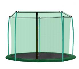 AGA 430 cm (14 ft) 6 rudas trambulin belső védőháló Green