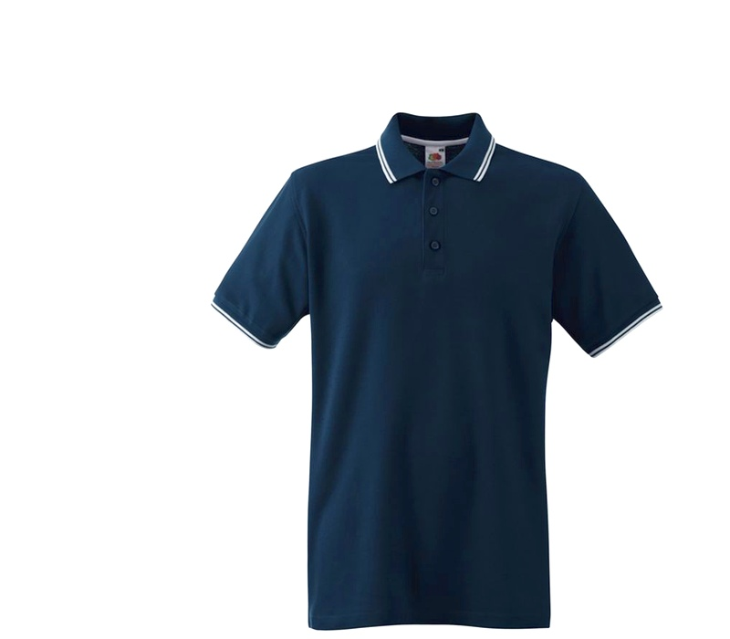 Fruit Of The Loom Tričko TIPPED POLO Deep Navy White