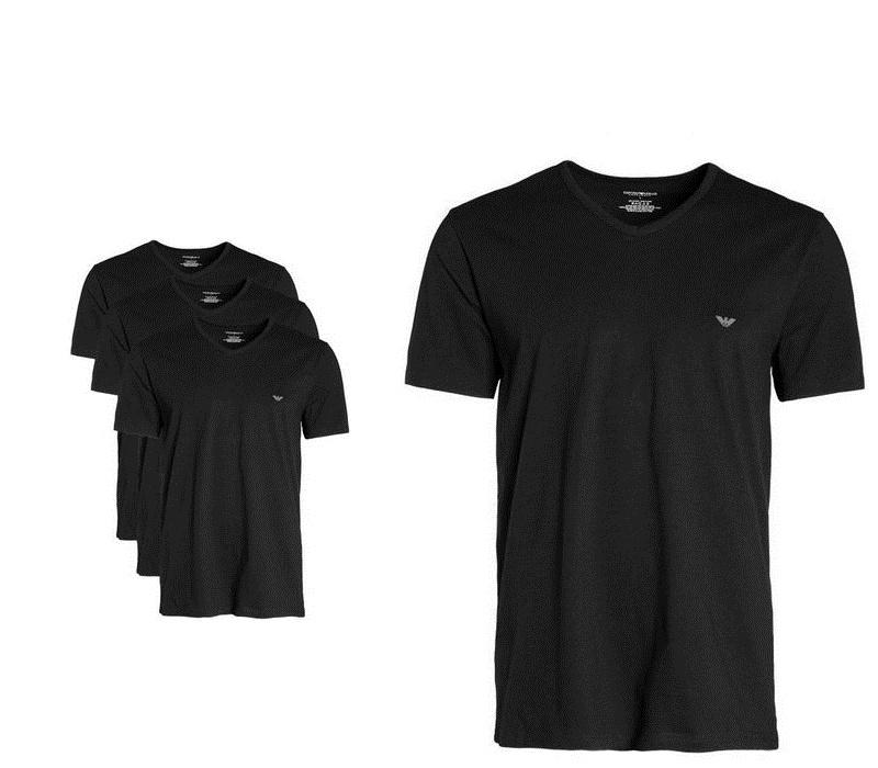 EMPORIO ARMANI Tričko 3-PACK Black