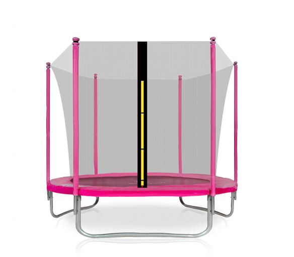 Aga SPORT FIT Trampolína 180 cm Pink + vnútorná ochranná sieť