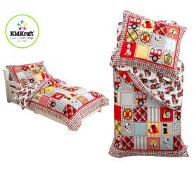 KidKraft Obliečky FIRE TRUCK 100x150, 60x75 cm červená