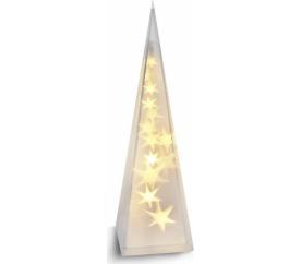 Solight LED vánoční pyramida, 3D efekt světla, 45cm, 3 x AA, teplá bílá - OSTATNI