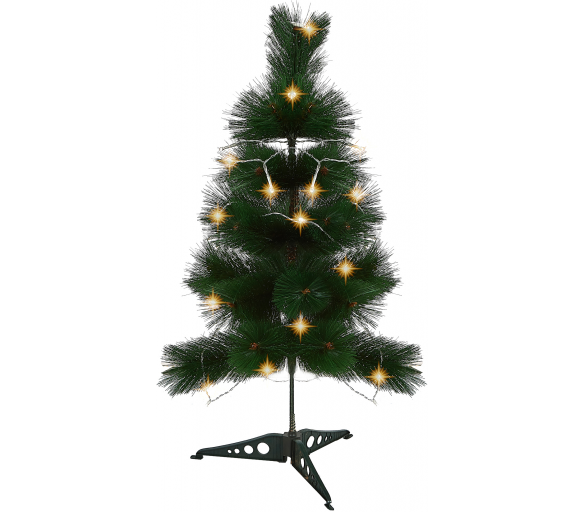 Aga Vánoční stromeček Borovice zelená 90 cm + Vánoční osvětlení zdarma